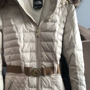 North Face Ivory puffer jacket